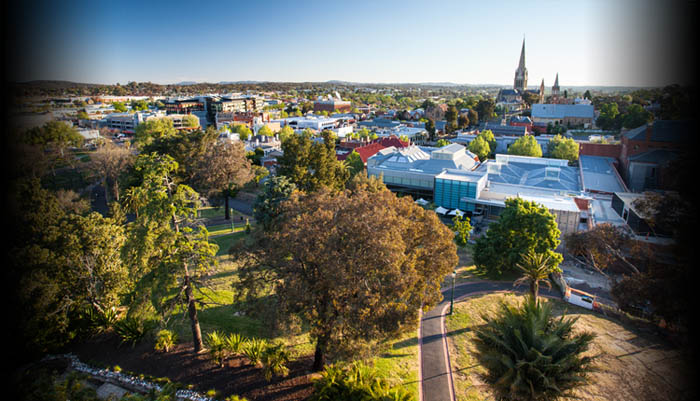 Photo of Bendigo from Rosalind Park poppet head